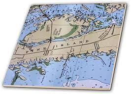 Nautical Charts Online 3drose Nautical Chart Ii Ceramic Tile 20cm Buy Online At