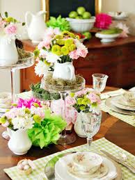Interesting Original Marian Parsons Spring Table Setting Centerpiece S3x4  in Table Setting Ideas