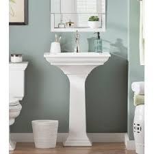 Image Modern Pedestal Save Wayfair Bathroom Pedestal Sinks Wayfairca