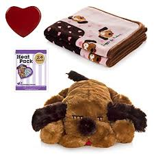 anxiety toys for dogs. Unique Toys SnugglePuppies Dog Separation Anxiety Aid And Blanket Bundle Brown  MuttPink With Toys For Dogs T