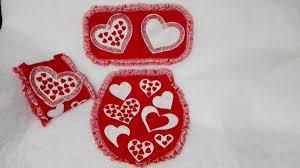 corazones de san valentin fotos juego de baño fieltro corazones san valentin 199 00 en mercado libre
