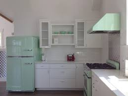 Retro Kitchen Small Appliances Gorgeous Big Chill Fridge In Jadite Green Lovely Kitchens