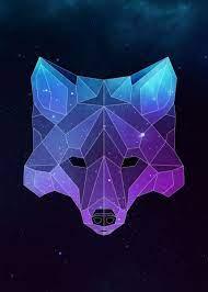 Geometric animal wallpaper, Galaxy painting
