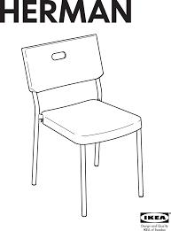 ikea herman chair assembly instruction