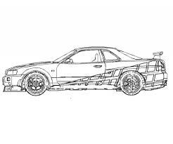 Small Picture Fast And Furious Coloring Pages Getcoloringpages Inside Within