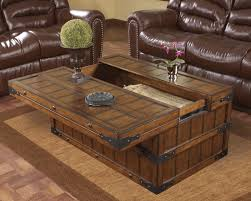fabulous trunk coffee table for your living room design traditional living room with brown leather