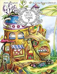 Amazoncom Nice Little Town Adult Coloring Book Stress Relieving