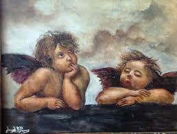 joseph porus artwork raphael angels only diffe original painting oil biblical art