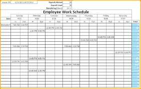 Sample Work Schedule For Employees Excel Employee Schedule Monthly Staff Template Work Schedules