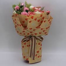 How To Wrap Flower Bouquet In Paper Shinewrap Love Heart Printing Gift Wrapping Wrap Paper For Flower Bouquet Buy Wrapping Paper Bouquet Gift Wrap Paper For Wrapping Flower Product On