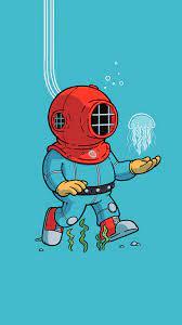 Minimalist Diving Suit Simple ...