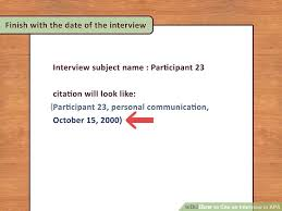 Apa Quote Citation New 48 Ways To Cite An Interview In APA WikiHow