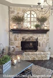 whimsy girl: Our Home: {Nature Inspired Spring Mantle} Spring mantle dcor,   Corner Mantle DecorCorner Fireplace DecoratingCorner Stone ...