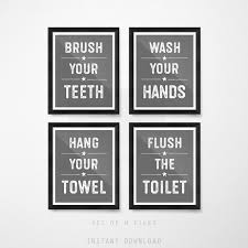 Kids bathroom sign Comfort Room Farmhouse Bathroom Signs Set Kids Bathroom Decor Set Flush The Toilet Wash Your Handsprintable Pinterest Farmhouse Bathroom Signs Set Kids Bathroom Decor Set Flush The