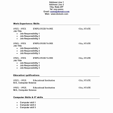 Format Of Simple Resume Basic Template Word Free Easy For Students