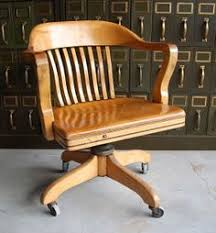 desk chair wood. RESERVED For Kris - Vintage Wooden Office Chair Desk Wood