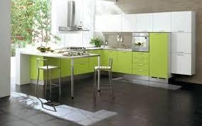 Cocinas Minimalistas Muebles De Cocina Verdes Blancas Y Negras   Cocinas  Verdes Y