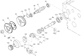 Fuel camshaft and governor shaft assembly