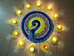 Diwali decoration ideas for office Eco Friendly Diwali Rangoli Kreatecube Best Diwali Decoration Ideas For Home Office