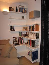 bespoke corner bookcase shelf