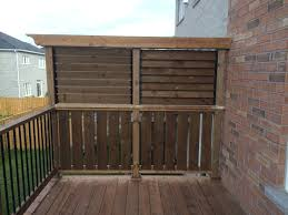newmarket deck after construction privacy wall closed