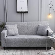 calming grey waterproof sofa slipcover