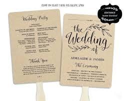 Wedding Ceremony Program Template Free Download Folded Wedding Program Template Modern Sweet Bomb Edit Free