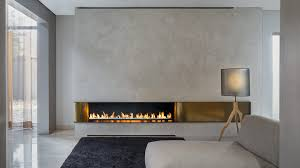 wall fire suspended fireplace