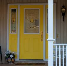 Front Doors front doors with sidelights pics : Yellow Front Door With sidelights painted to match | For the Home ...