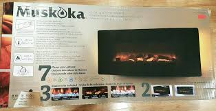 large image for muskoka electric fireplace parts curved wall mount heater newest model reviews insert manual