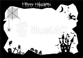 グリーティングカード用ハロウィンのポストカード無料テンプレート