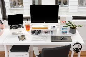 zafarana s desk at poppin hq
