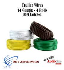 trailer light cable wiring for harness 50ft spools 14 gauge 4 wire image is loading trailer light cable wiring for harness 50ft spools