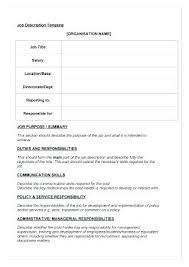 Job Description Template Word Inspiration Material Handler Job Description Template Construction Laborer