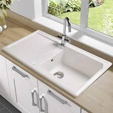 Oak Kitchen Table Sink With Drainboard Double Pub Kitchen Sink