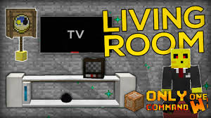 Minecraft Living Room Furniture Living Room Furnitures With Only One Command Block Tv Cushions