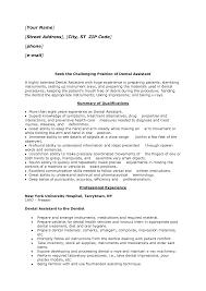 dental assistant resume format resume format  dental