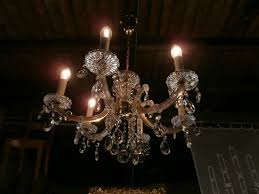 Kristall Leuchter Um 1950