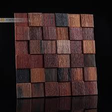 decorative wood wall tiles. 100% Natural Wood Wall Mosaic Tile ,block Design Mesh Backing Decorative Tiles