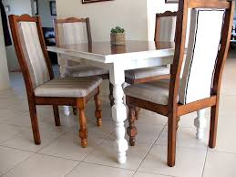 Padding For Dining Room Chairs Country Brown Stained Teak Wood Based Frame Dining Chair With