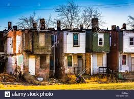 Abandoned row houses in Baltimore, Maryland Stock Photo, Royalty ...