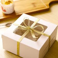 Decorative Cookie Boxes corrugated kraft paper square cake box cookie dessert sweets 65