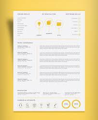 professional page resume design cv template ai file