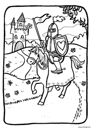 Coloriage Chevalier Bouquetreal Co