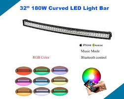 17 best ideas about led lights for trucks nicoko curved 32 180w rgb halo led light bar bluetooth app wiring harness