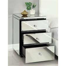 vegas white glass mirrored bedside tables. RIO CRYSTAL Mirrored Bedside Table Chest Nightstand Vegas White Glass Tables I