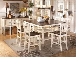 cottage dining room tables. Holfield - 7pcs Cottage Square Counter Height Dining Room Table \u0026 Chairs Pub Set Tables L