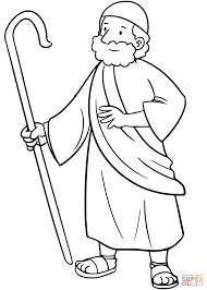 Moses Coloring Page From Moses Category Select From 27115 Printable