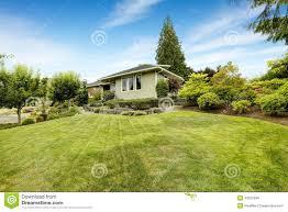 Front Yard Landscape Design Plans Free Front Yard Landscape Design With Rocks Stock Photo Image
