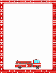 Preschool Page Borders Fire Truck Template Preschool Beautiful Pin By Muse Printables On